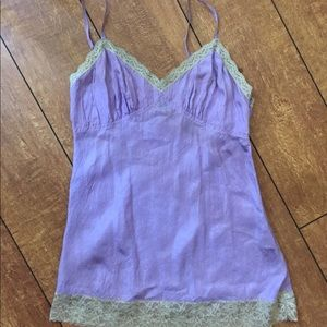 DKNY Cami blouse with lace.